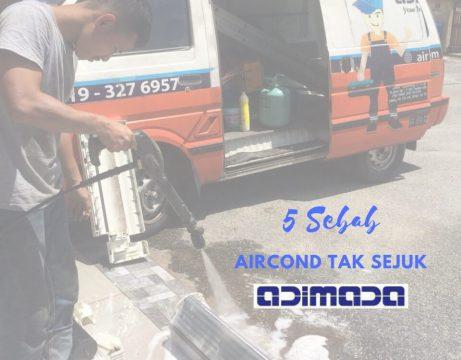 5 Sebab Aircond Tak Sejuk