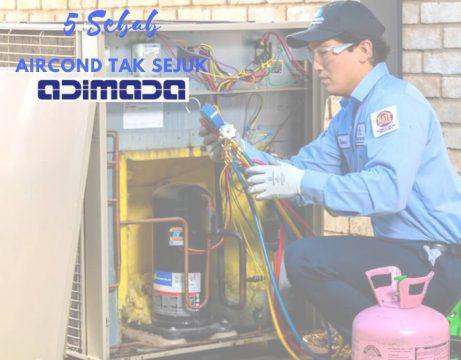 Sebab Aircond Tak Sejuk-gas aircond habis